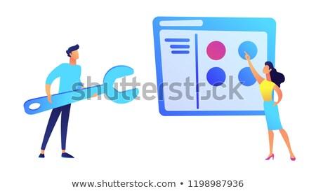 personal · jerarquía · organización · estructura · mujer · cara - foto stock © rastudio