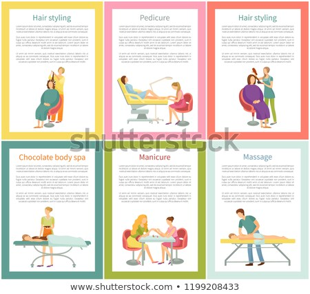 Pedicure and Chocolate Body Therapy Set Vector Stock photo © robuart