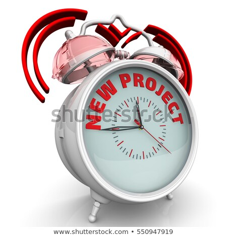 new project   inscription on watch 3d render stock photo © tashatuvango