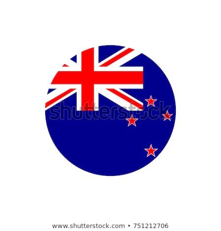 Bandera Nueva Zelandia marco ilustración diseno fondo Foto stock © colematt