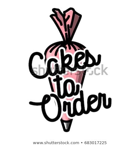 Color vintage cakes to order emblems Stock photo © netkov1