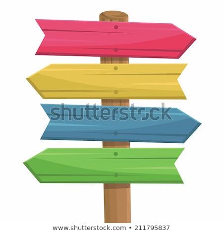Renk bağbozumu kereste afiş dizayn elemanları Stok fotoğraf © netkov1