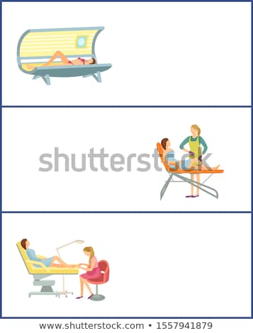 Tanning and Depilation Online Posters in Spa Salon Stock photo © robuart