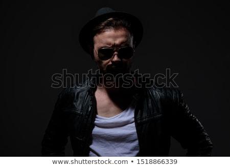 ハンサム 岩 ロール 男 着用 帽子 ストックフォト © feedough