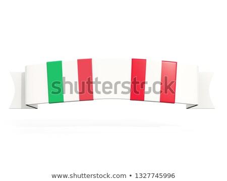 Banner dos cuadrados banderas Italia Perú Foto stock © MikhailMishchenko