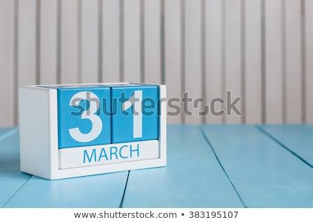 Cubes calendar 31st March Stock photo © Oakozhan