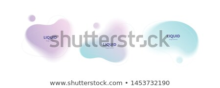 pastel colors abstract wave liquid flow poster Photo stock © SArts