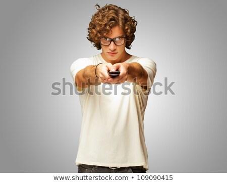 肖像 混乱 若い男 制御 ストックフォト © deandrobot