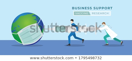 Sick businessman with medical research concept Stock photo © ra2studio