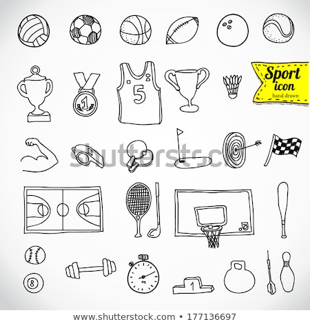 winter sports hand drawn vector doodles illustration stock photo © balabolka