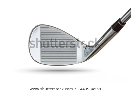 Face of Golf Club Iron Head Isolated on a White Background Stock photo © feverpitch