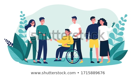Helping People with Disabilities, Volunteer Work Stock photo © robuart
