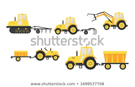 Agrícola maquinaria trator conjunto fazenda vetor Foto stock © robuart