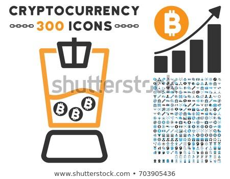 Digitális vektor ikon szett szín gyűjtemény üzlet Stock fotó © frimufilms