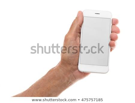 Handen scherm smartphone oude zwarte Stockfoto © Freedomz