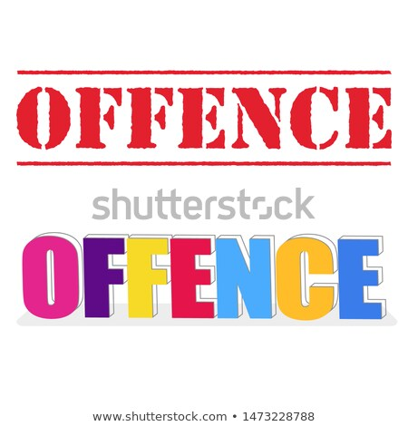 Offence. banner with grunge text colored. Vector Stock photo © Andrei_
