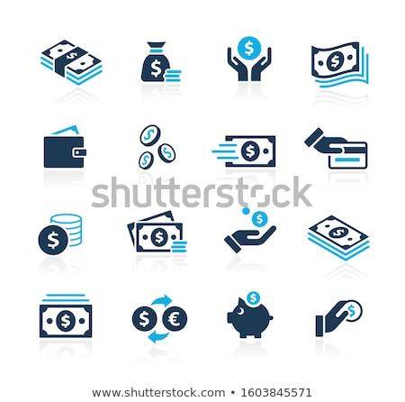 hand holding money icon stock photo © angelp