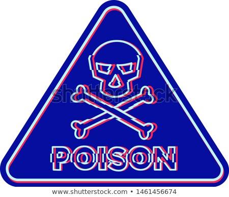 Poison Symbol Neon Flickering Icon Stock photo © patrimonio