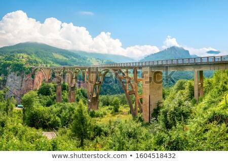 моста Черногория реке дороги строительство пейзаж Сток-фото © Givaga