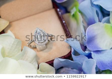 Körte alakú gyémánt nagy 3D kép Stock fotó © AlexMas
