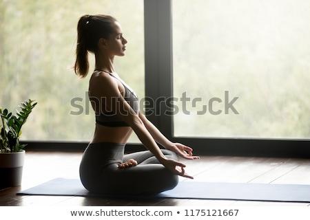 topo · ver · belo · jovem · ioga - foto stock © lichtmeister