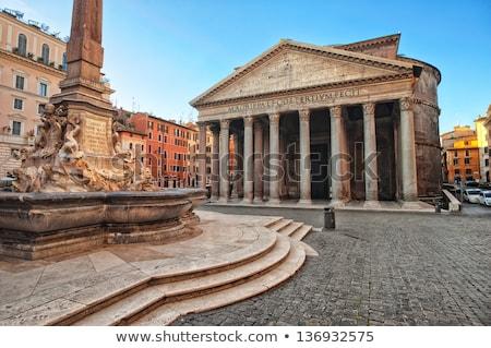 Romeinse · ochtend · Italië · hemel · wolken · gebouw - stockfoto © neirfy