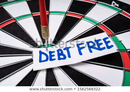Debt Free Text At The Center Of Dartboard Stock photo © AndreyPopov