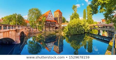 Duitsland middeleeuwse wijn magazijn rivier kant Stockfoto © borisb17