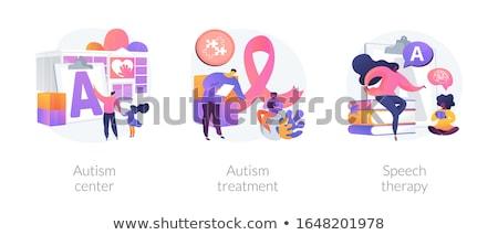 Otizm çocuklar oynamak bilgi tedavi Stok fotoğraf © RAStudio