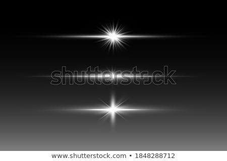 Parlak parlak neon hatları parçacıklar 80s Stok fotoğraf © SwillSkill