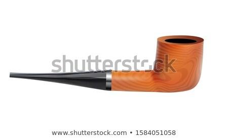 Tabacco pipe legno fumatore vista laterale Foto d'archivio © pikepicture