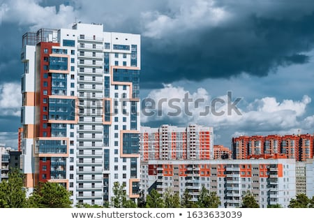 Modern multi storey apartment building Stock photo © elxeneize