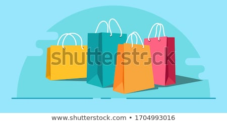 Shopping Bags, Carrier Bags Icons Symbols Stock photo © fenton