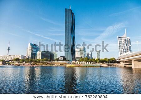 Vienna. Modern skyscrapers skyline in Vienna business district Stock photo © xbrchx