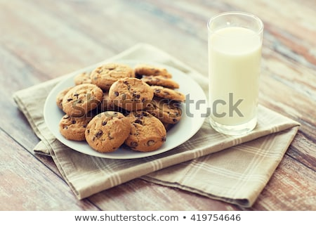 close up of oatmeal cookies on plate Stock photo © dolgachov