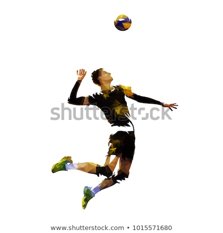 young volleyball player on dark background Stock photo © Lopolo