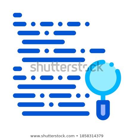 Vergrootglas Zoek code fout vector lijn Stockfoto © pikepicture