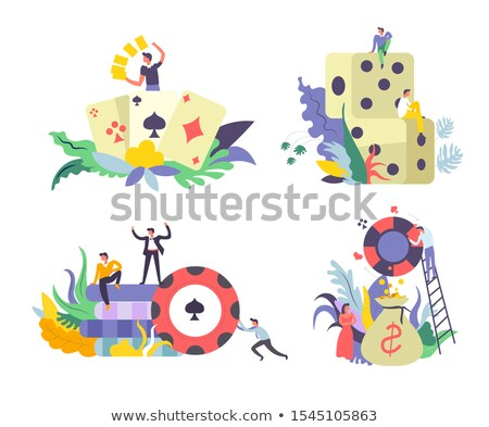 Man Win Prize Betting And Gambling Icon Vector Illustration Stock photo © pikepicture