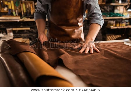 Cobbler Working With Leather Stock photo © AndreyPopov