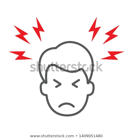 Headache Icon Vector Outline Illustration Stock photo © pikepicture