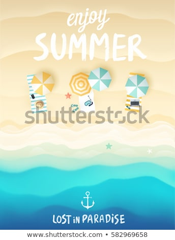 Summer Vacation Beach Advertising Poster Vector Stock photo © pikepicture