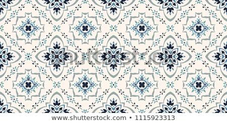 Cserépedények kerámia végtelen minta vektor vékony vonal Stock fotó © pikepicture