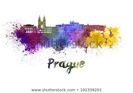 Résumé Prague Skyline couleur affaires tourisme Photo stock © ShustrikS
