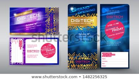 Absztrakt vektor trendi gradiens borító sablon Stock fotó © karetniy