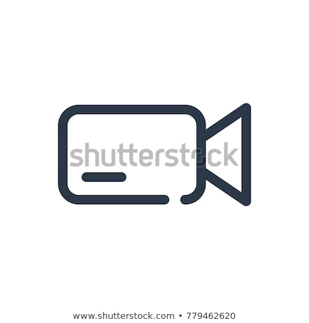 Video Camera Tool Icon Vector Outline Illustration Stock photo © pikepicture