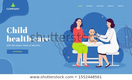Infant and child vaccination concept landing page. Stock photo © RAStudio