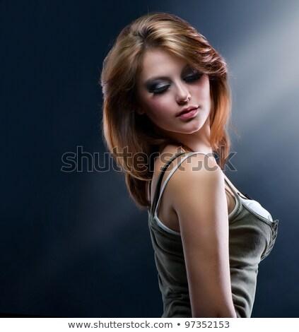 káprázatos · szőke · nő · romantikus · néz · arc · szexi - stock fotó © konradbak