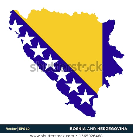 National flag of the Bosnia and Herzegovina in the shape of a heart and the inscription I love Bosni Stock photo © butenkow