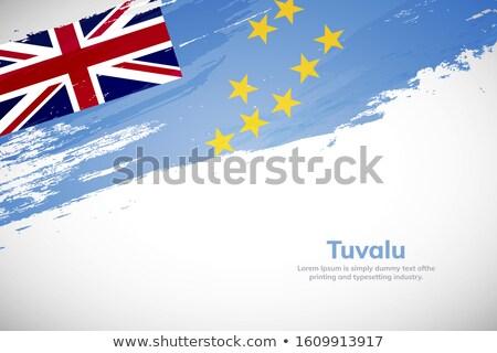 Tuvalu bandeira mão branco textura mundo Foto stock © butenkow