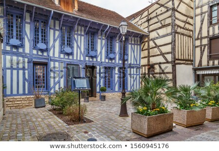 Courtyard in Troyes downtown, France Stock photo © borisb17